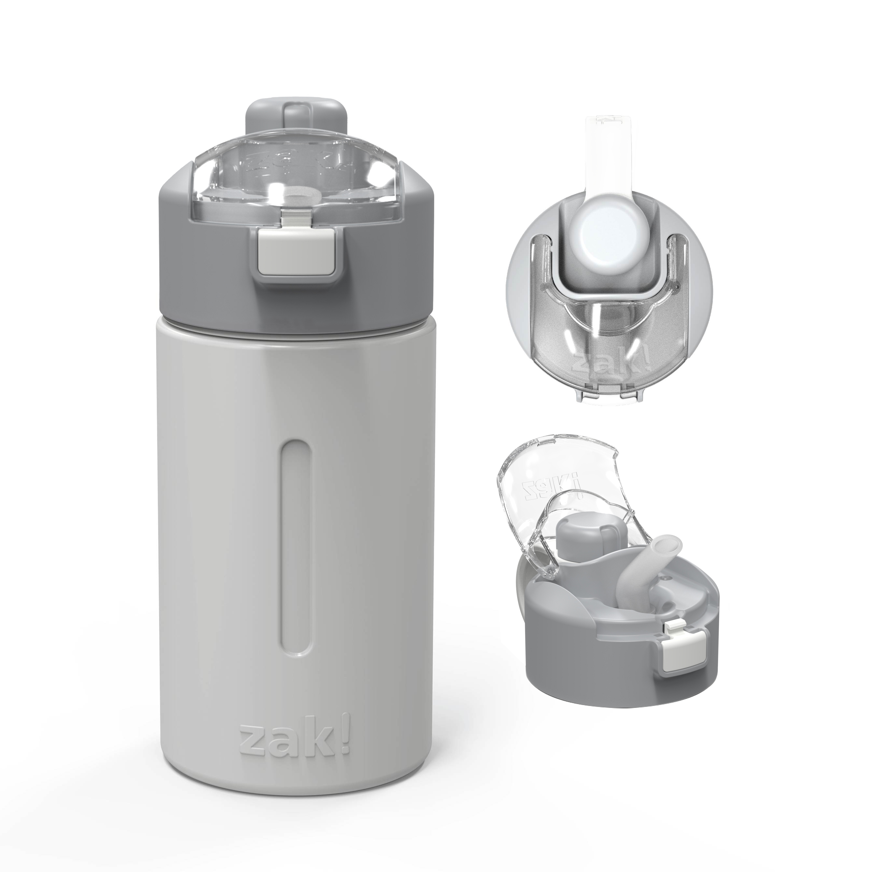 Genesis 12 ounce Vacuum Insulated Stainless Steel Tumbler, Gray slideshow image 1
