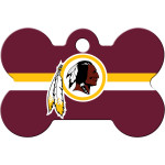 Washington Redskins Large Bone ID Spot Tag