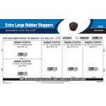 "Extra Large Rubber Stoppers Assortment (Top Diameters 1-13/16"" Thru 2-3/16"")"