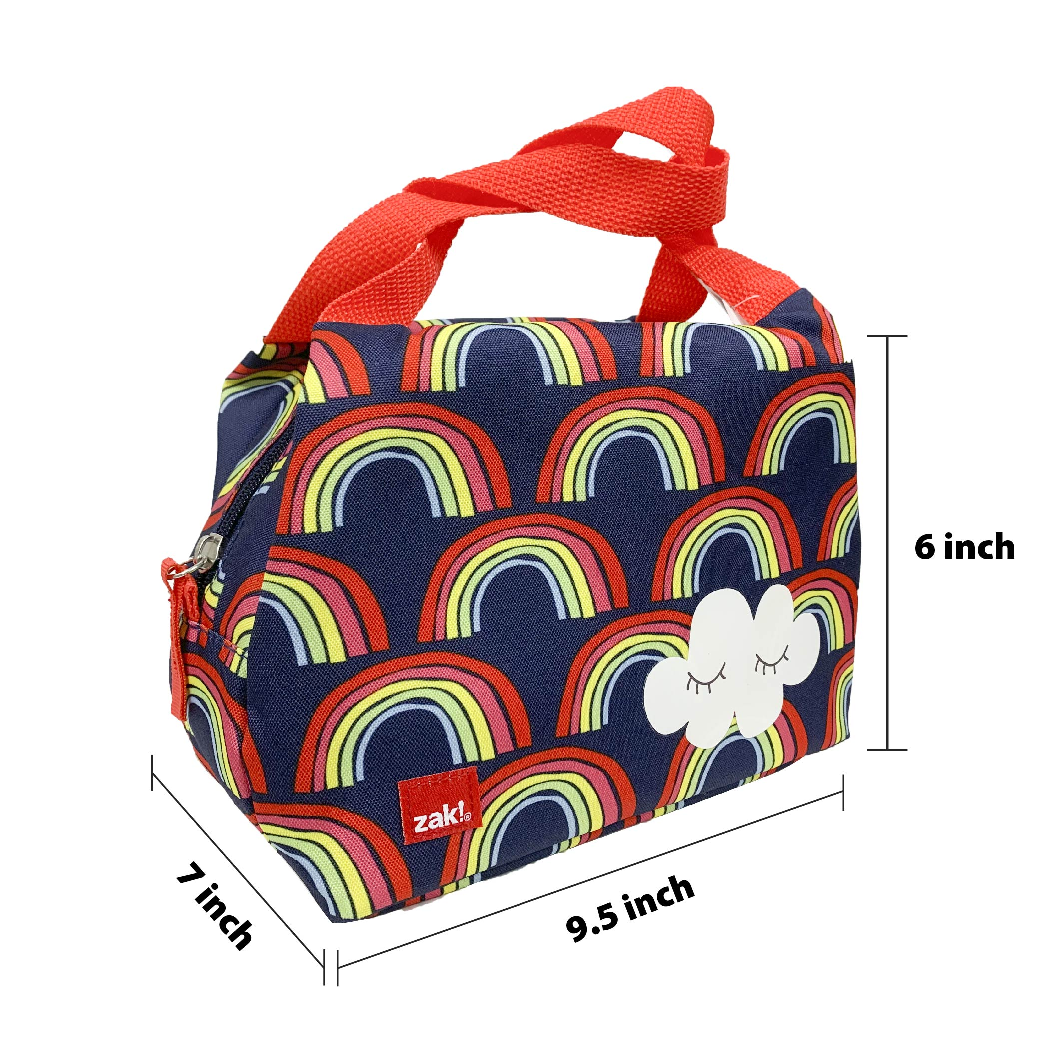 Happy Things Insulated Reusable Lunch Bag, Clouds slideshow image 4
