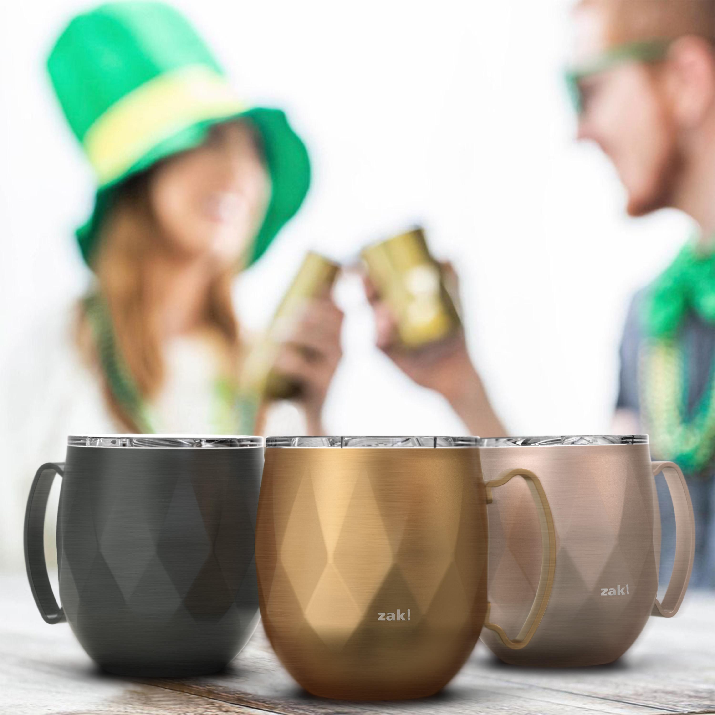 Fractal 19 ounce Mule Mug, Copper slideshow image 9
