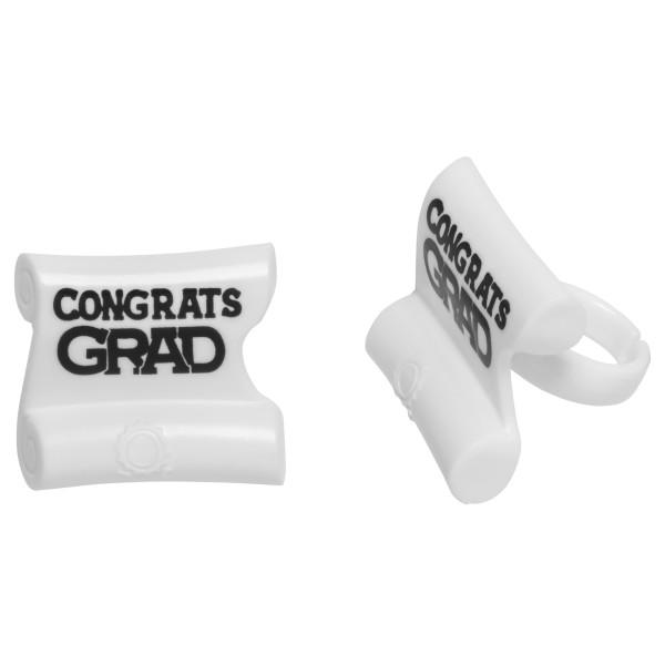 Grad Diploma Cupcake Rings