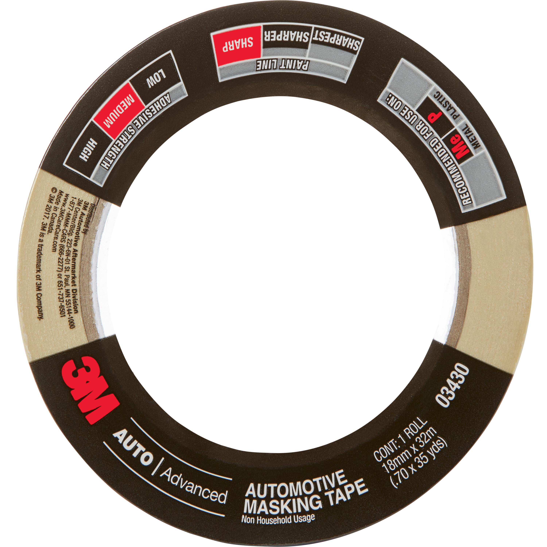 3M™ Automotive Masking Tape, 03430, 18 mm x 32 m, 24 per case