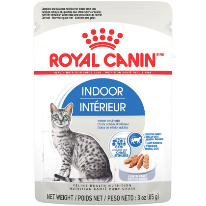 Royal Canin Feline Health Nutrition Indoor Adult Loaf in Gravy Pouch Cat Food