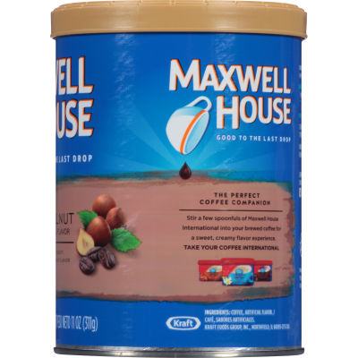 Maxwell House Hazelnut Ground Coffee 11 oz Canister