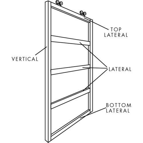 Hillman Door Frame Lateral Galvanized 10'