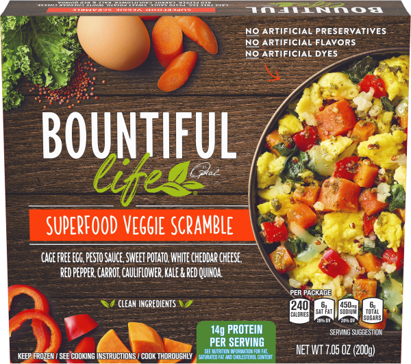 Bountiful Life Superfood Veggie Scramble, 7.05 oz box