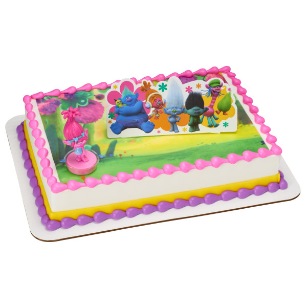 DreamWorks - Trolls Poppy Show Me a Smile PhotoCake® Edible Image® DecoSet® Background