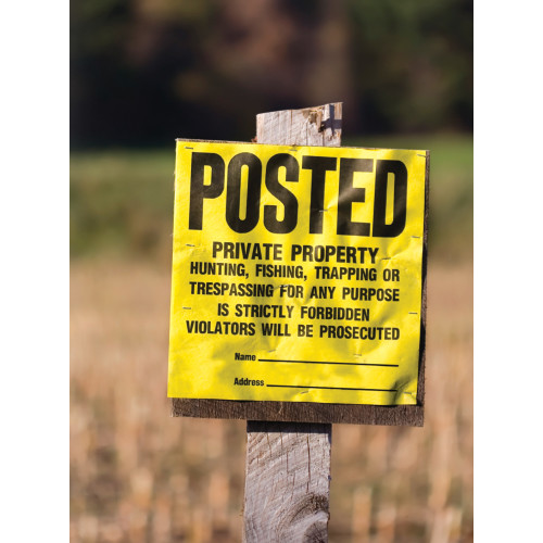 Posted Private Property Sign (11