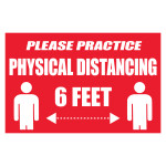 Hillman Please Physical Disance Sign (COVID-19)