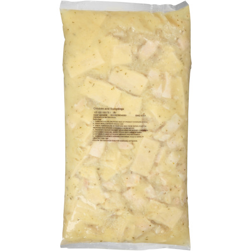 QUALITY CHEF Chicken & Dumplings, 8 lb. Frozen Bag (Pack of 4)