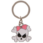 Girly Skull Key Chain