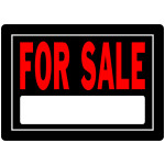 "For Sale Sign Black and Red (10"" x 14"")"