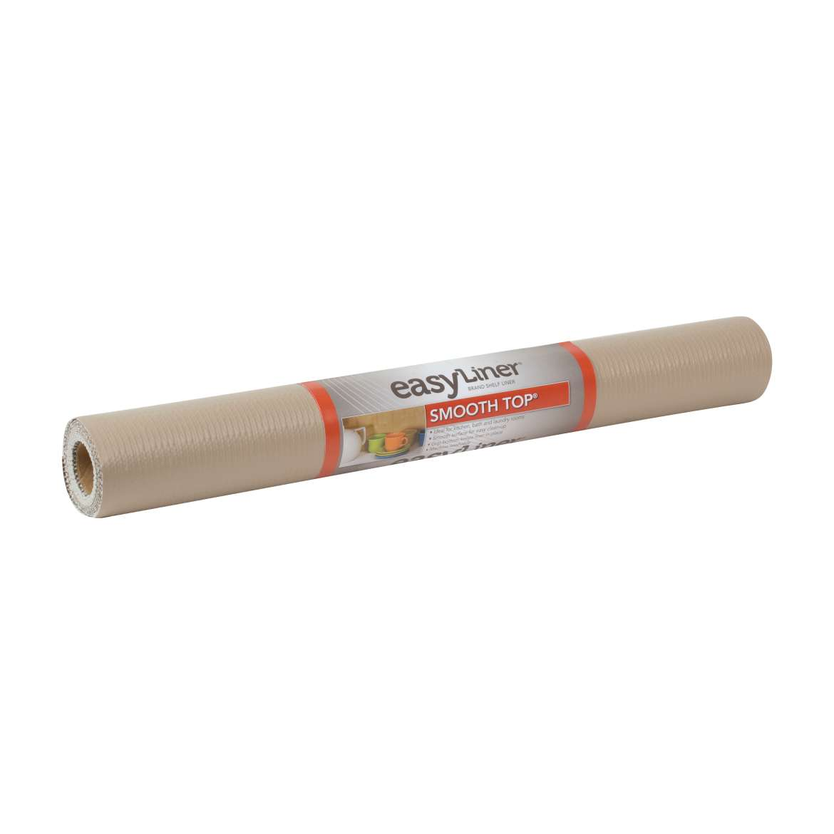 Smooth Top® Easy Liner® Brand Shelf Liner - Taupe, 20 in. x 6 ft. Image