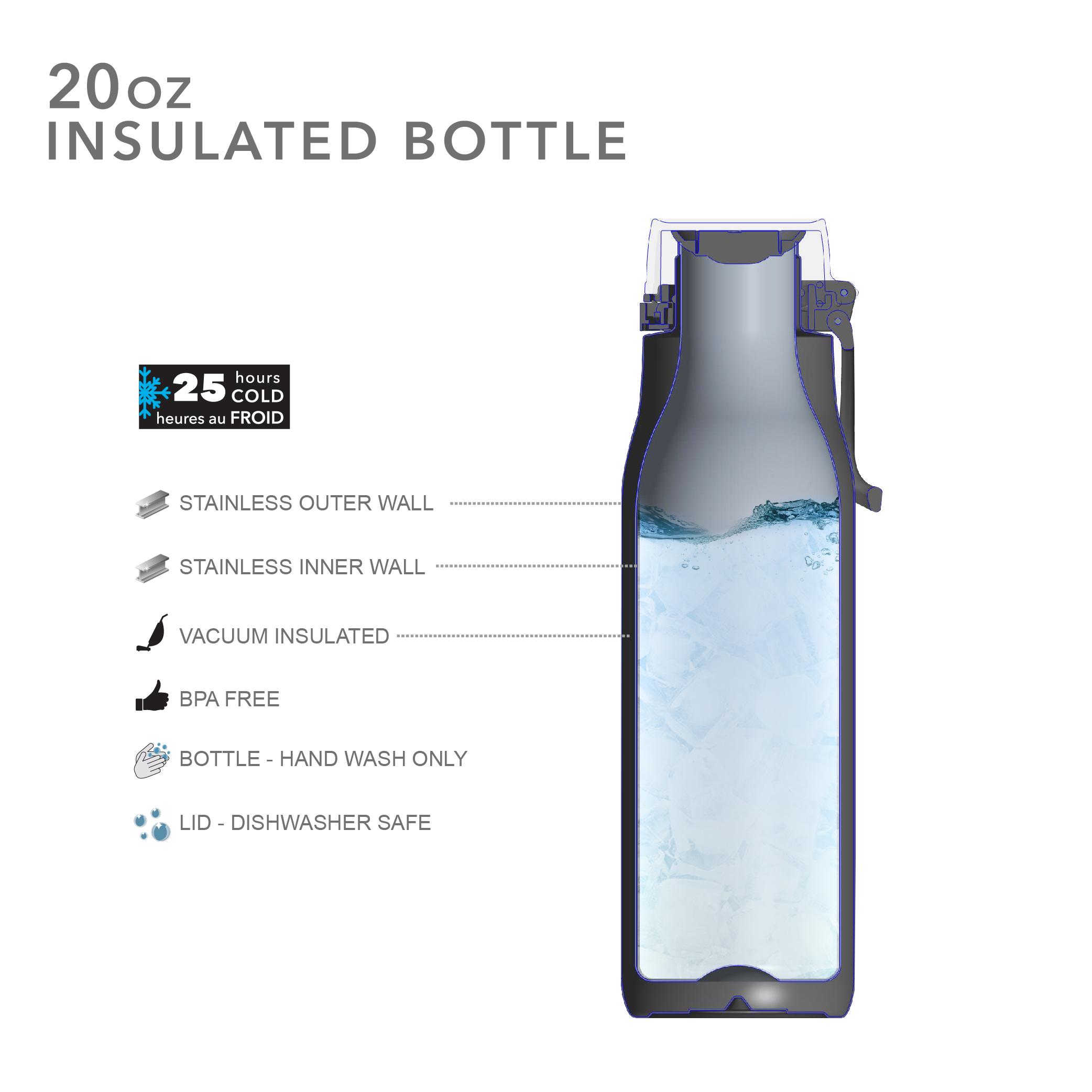 Kiona 20 ounce Vacuum Insulated Stainless Steel Tumbler, Indigo slideshow image 8