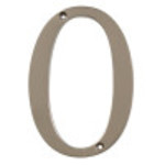"Distinctions 4"" Flush Mount Nickel House Number"