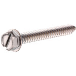 Stainless Steel Slotted Hex Washer Head Sheet Metal Screws