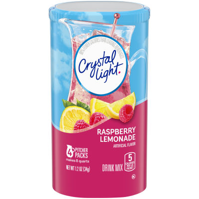 Crystal Light Raspberry Lemonade Drink Mix 4 count Canister