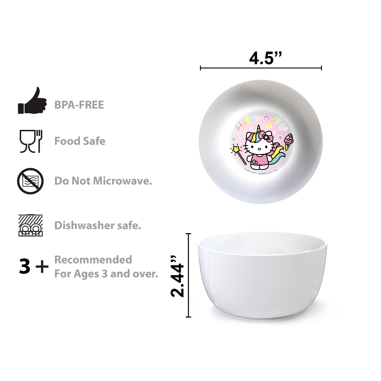 Sanrio Dinnerware Set, Hello Kitty, 5-piece set slideshow image 6