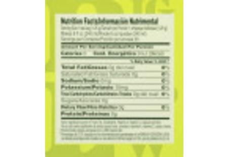 Nutritional Fact panel of Green Tea with Lemon Tea box bilingual packaging
