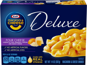 Kraft Dinners Deluxe Four Cheese Macaroni & Cheese Dinner 14 Oz Box image