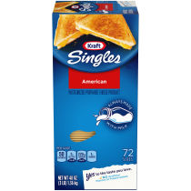 Kraft Singles American Cheese Slices, 48 oz (72 slices)