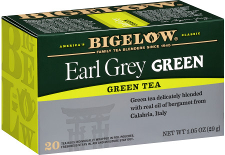 Earl Grey Green Tea- Case of 6 boxes - total of 120 teabags