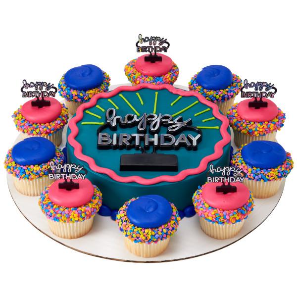 Neon Happy Birthday Sign Layon