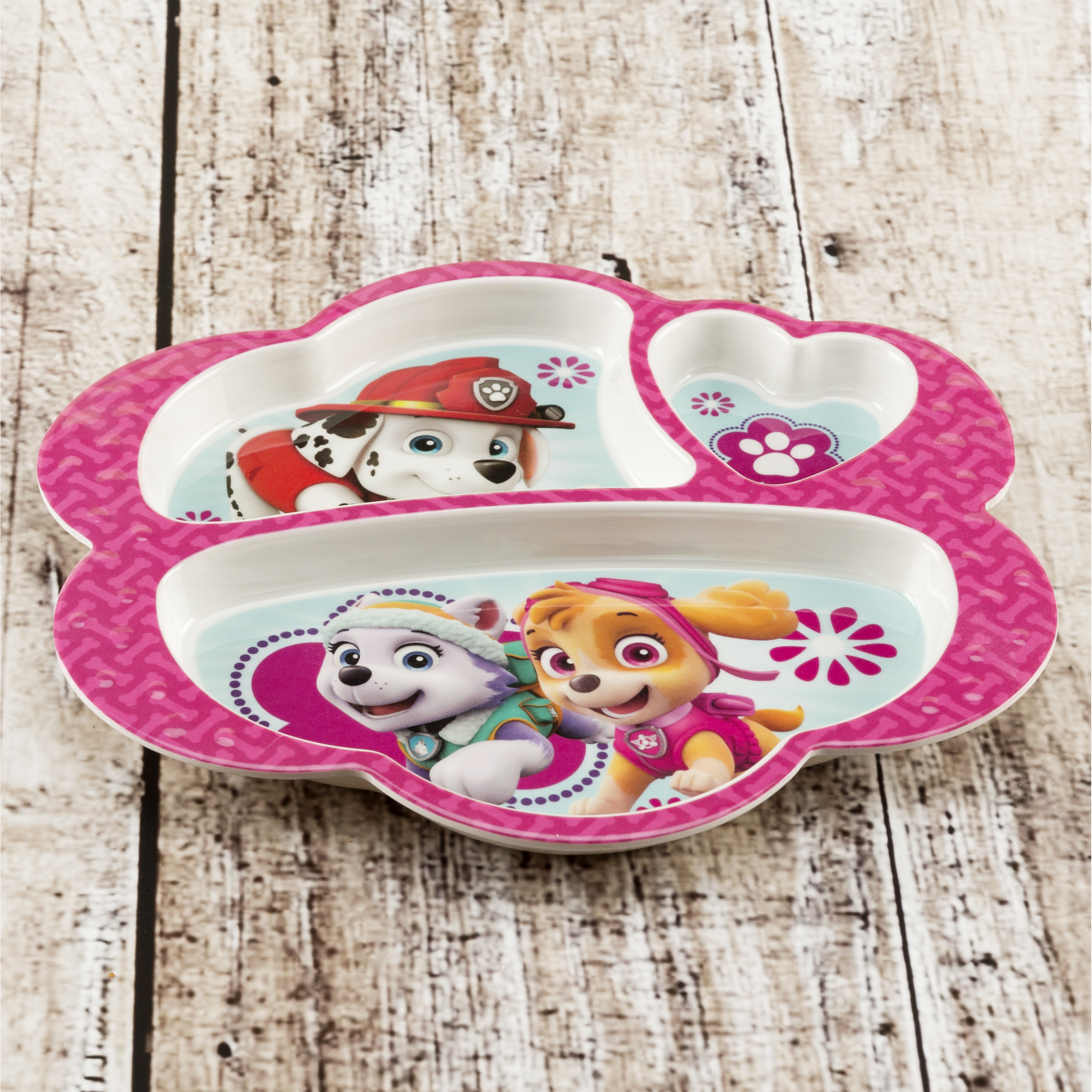 Paw Patrol Kid's Dinnerware Set, Skye, Everest and Marshall, 3-piece set slideshow image 4