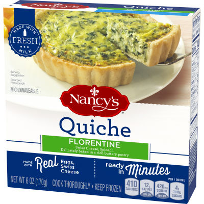 Nancy's Florentine Quiche 6 oz Box