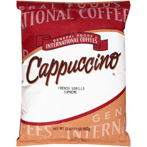 GENERAL FOODS INTERNATIONAL CAFÉ French Vanilla Supreme Cappuccino Powder, 2 lb. Container (Pack of 6) image