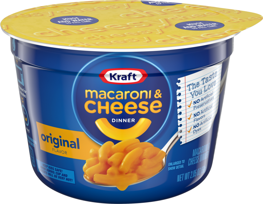 Kraft Original Macaroni & Cheese Dinner 2.05 oz Cup image