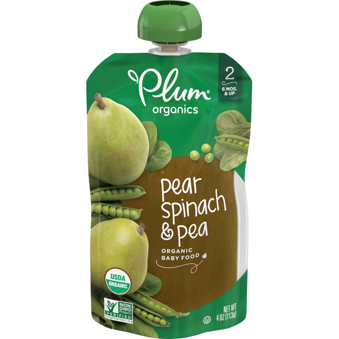 Pear, Spinach & Pea Baby Food