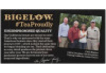 Bigelow Lemon Lift Tea bag in foil overwrap