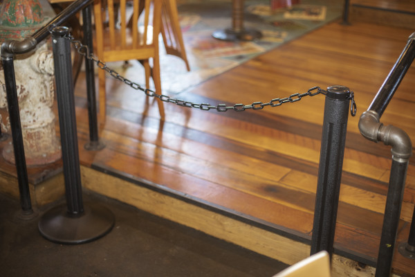 ChainBoss Stanchion - Black Filled with Black Chain 34