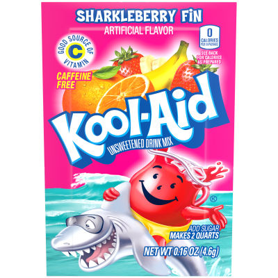 Kool-Aid Unsweetened Sharkleberry Fin Powdered Soft Drink 0.16 oz Pouch