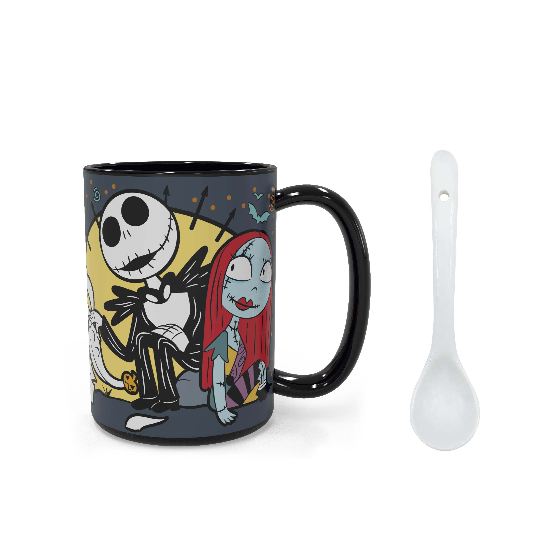 Disney The Nightmare Before Christmas 15 ounce Coffee Mug and Spoon, Jack the Pumpkin King & Sally slideshow image 8