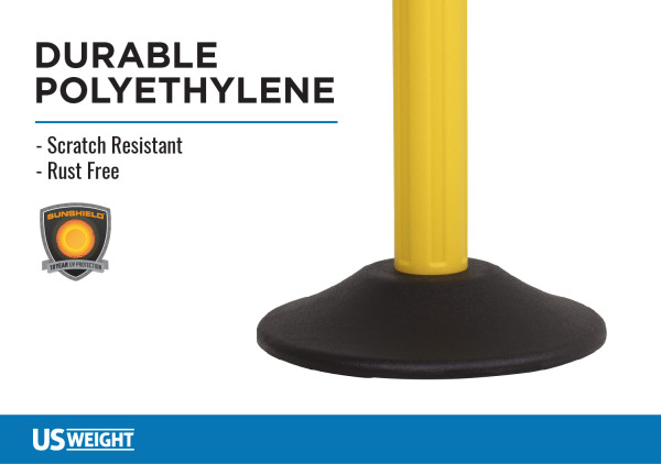 ChainBoss Stanchion - Yellow Filled with Black Chain 5