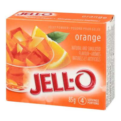 Jell-O Orange Jelly Powder, Gelatin Mix