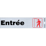 "French Adhesive Enter Sign, 2"" x 8"""