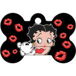 Betty Boop Kisses Large Bone Quick-Tag