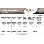 "Nickel & Brass Snaps & Grommets Assortment (1/4"" thru 3/8"")"
