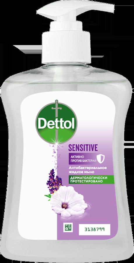 Антибактериальное жидкое мыло для рук Dettol для чувствительной кожи с глицерином