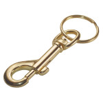 Brass Snap Hook with Ring