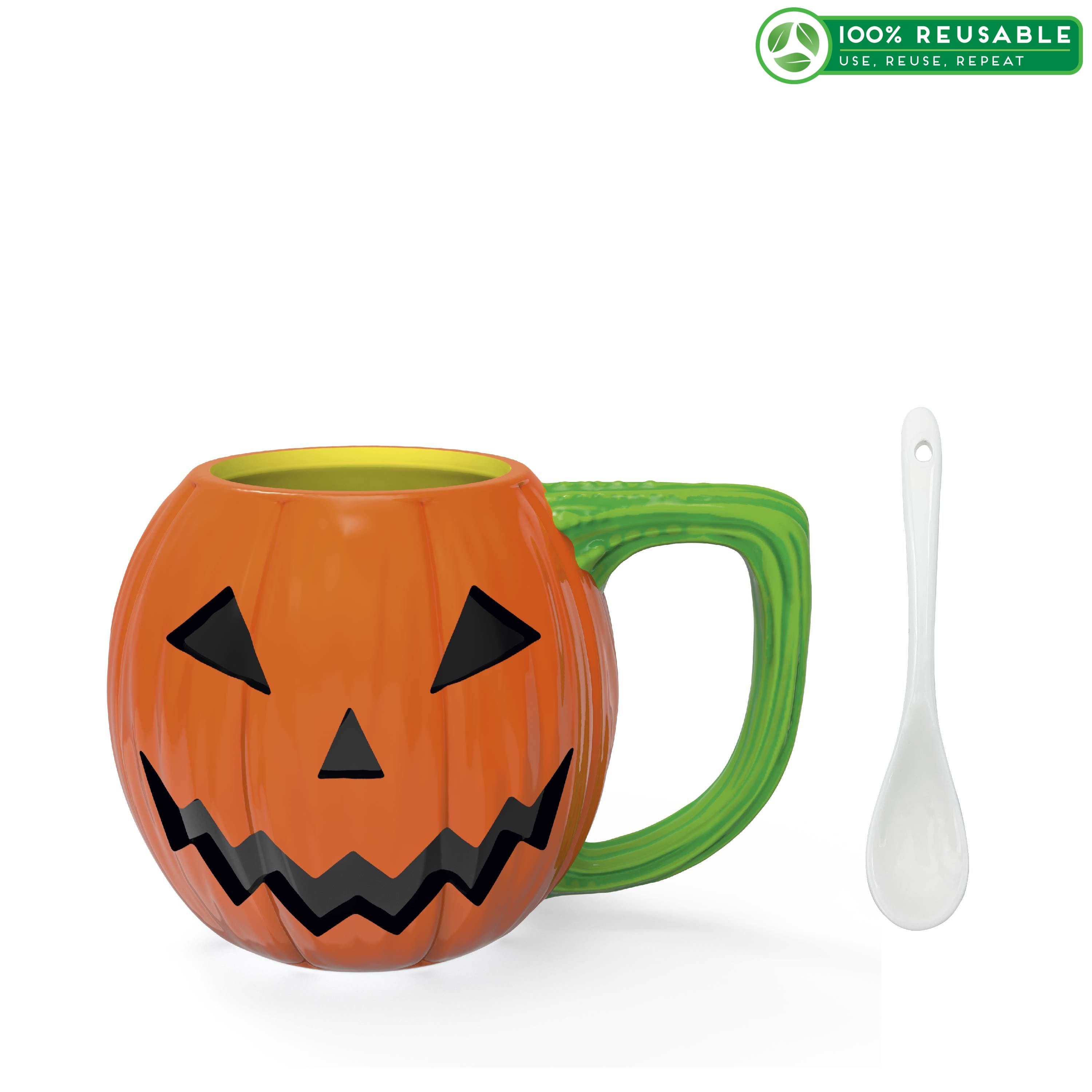 Halloween 15 ounce Coffee Mug and Spoon, Jack O' Lantern slideshow image 1