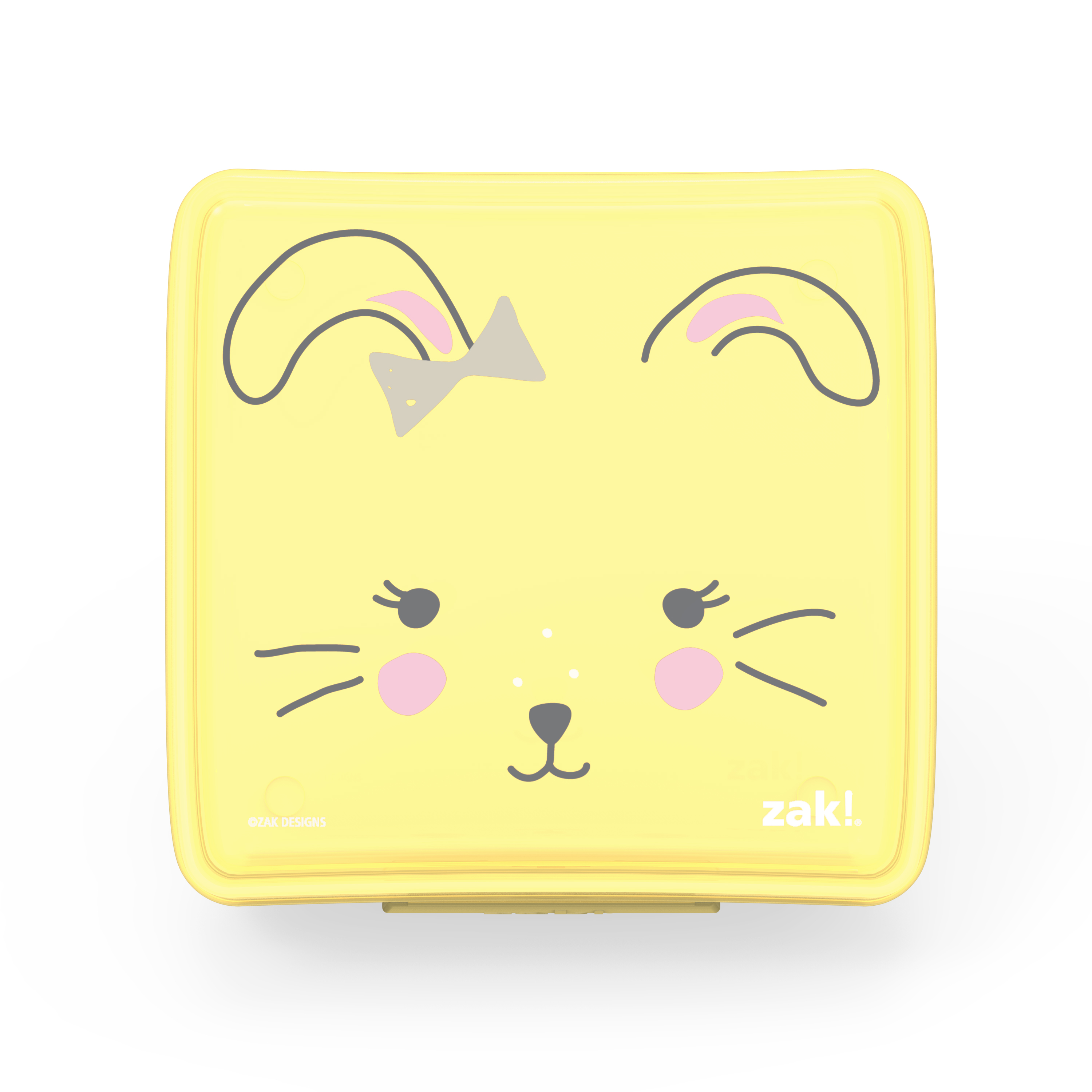 Soft Lines Reusable Hinged Food Container, Bunnies slideshow image 1