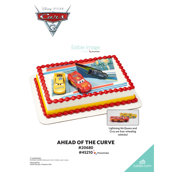 Cars 3 Ahead of the Curve DecoSet® The Magic of Cakes® Page