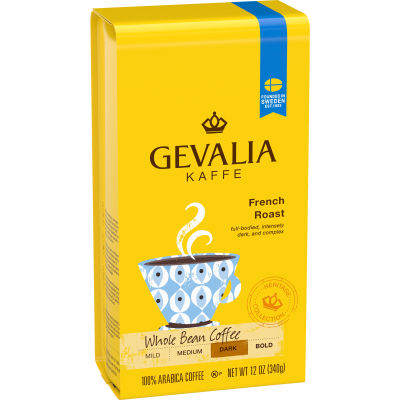 Gevalia French Roast Whole Beans Coffee, 12 oz Bag