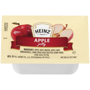 HEINZ Single Serve Apple Jelly, 0.5 oz. Cups (Pack of 200) image