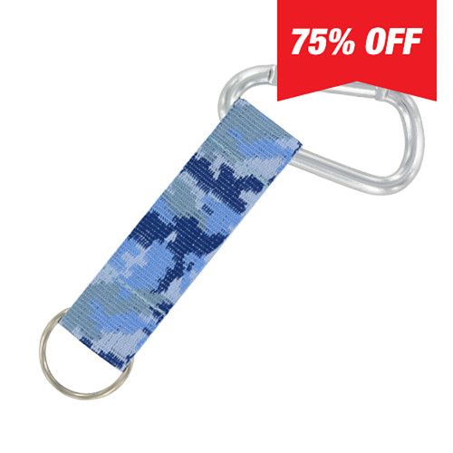Carabiner Strap (Blue Camo) 6 Pack